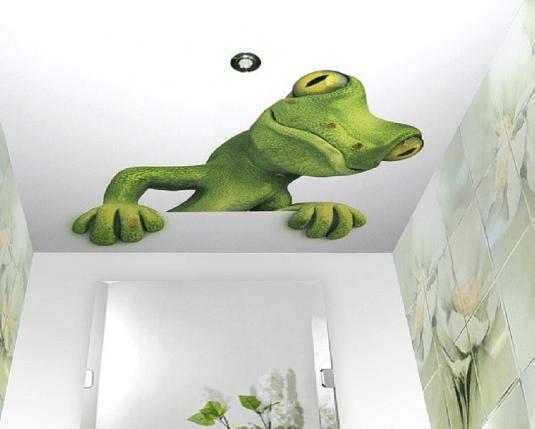 Įtempiamos lubos su 3D efektu interjere