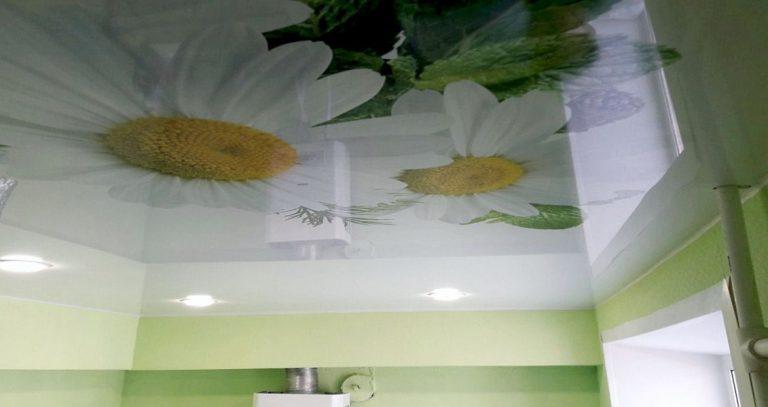 Įtempiamos lubos virtuvėje su nuolaida
